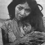 Pencil Drawing of American Native Indian. One of a series of thirty that are available for exhibition.