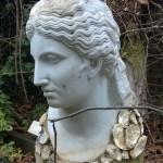 Greek Head In The Woods By Corin Johnson